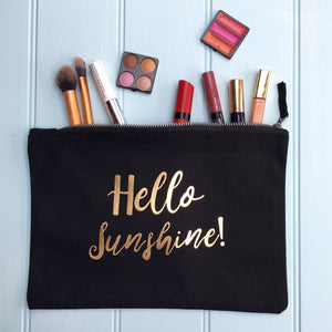 Personalised Make Up Bag Sunshine
