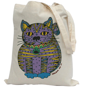 Tote Bag Colour Me In Cat