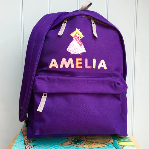 Princess Personalised Girls Backpack