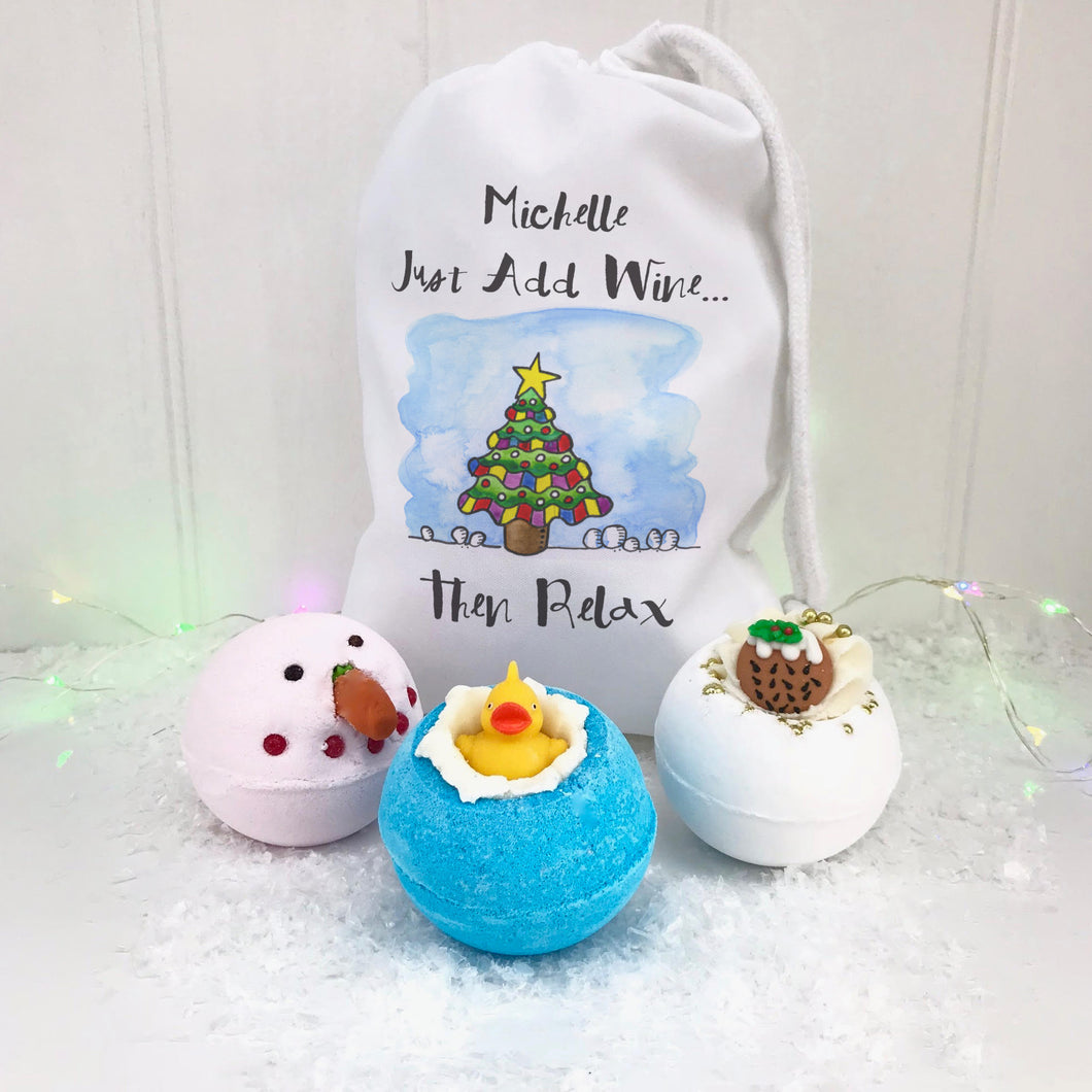 Just Add Wine Personalised Bath Bomb Bag