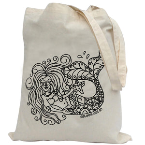 Tote Bag Colour Me In Mermaid
