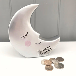 Money Box Personalised Moon