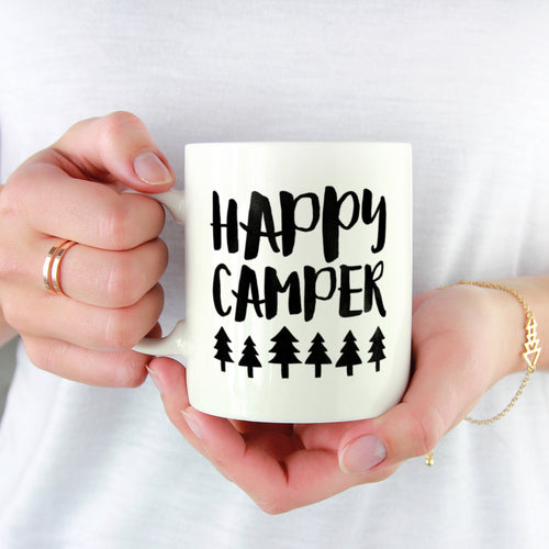 Personalised Happy Camper Mug
