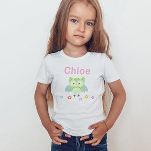 Personalised Green Owl T-Shirt