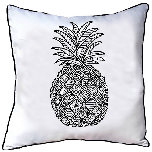 Colour In Cushion Pineapple Design