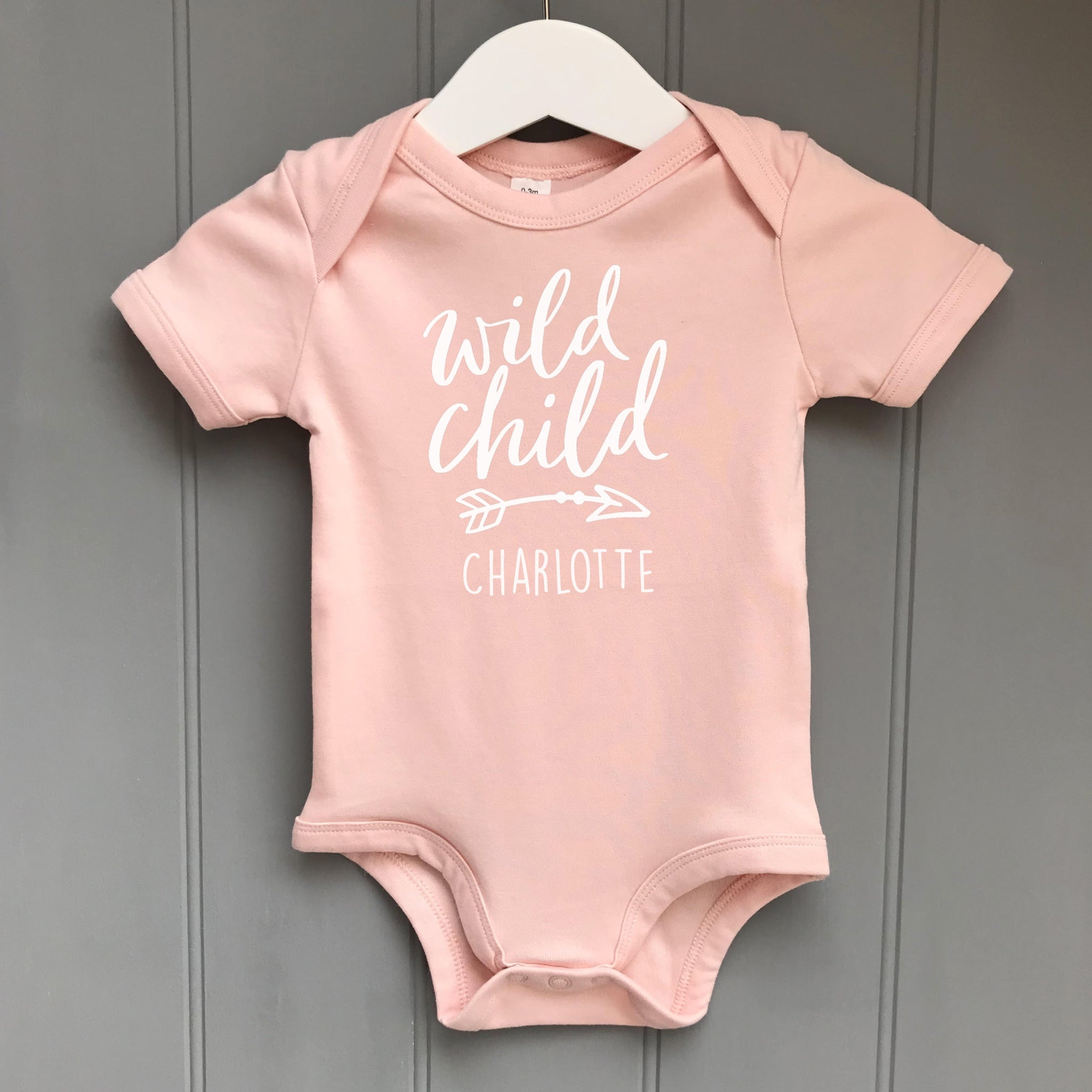 Personalised Baby Grow Wild Child Pink Pineapple Home Gifts