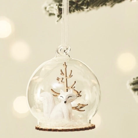 Glass Bauble With Fox