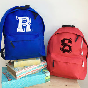 Personalised Varsity Giant Letter Backpack  (Vinyl)