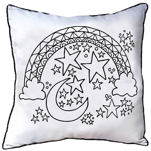 Colour In Cushion Moon Design