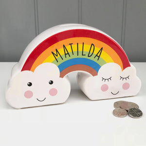 Personalised Money Box Rainbow