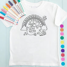 Moon T-Shirt Personalised To Colour in