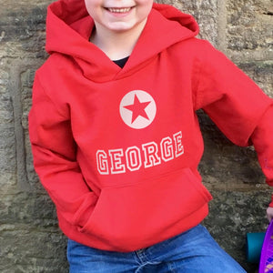 Children's Personalised Hoodie Star