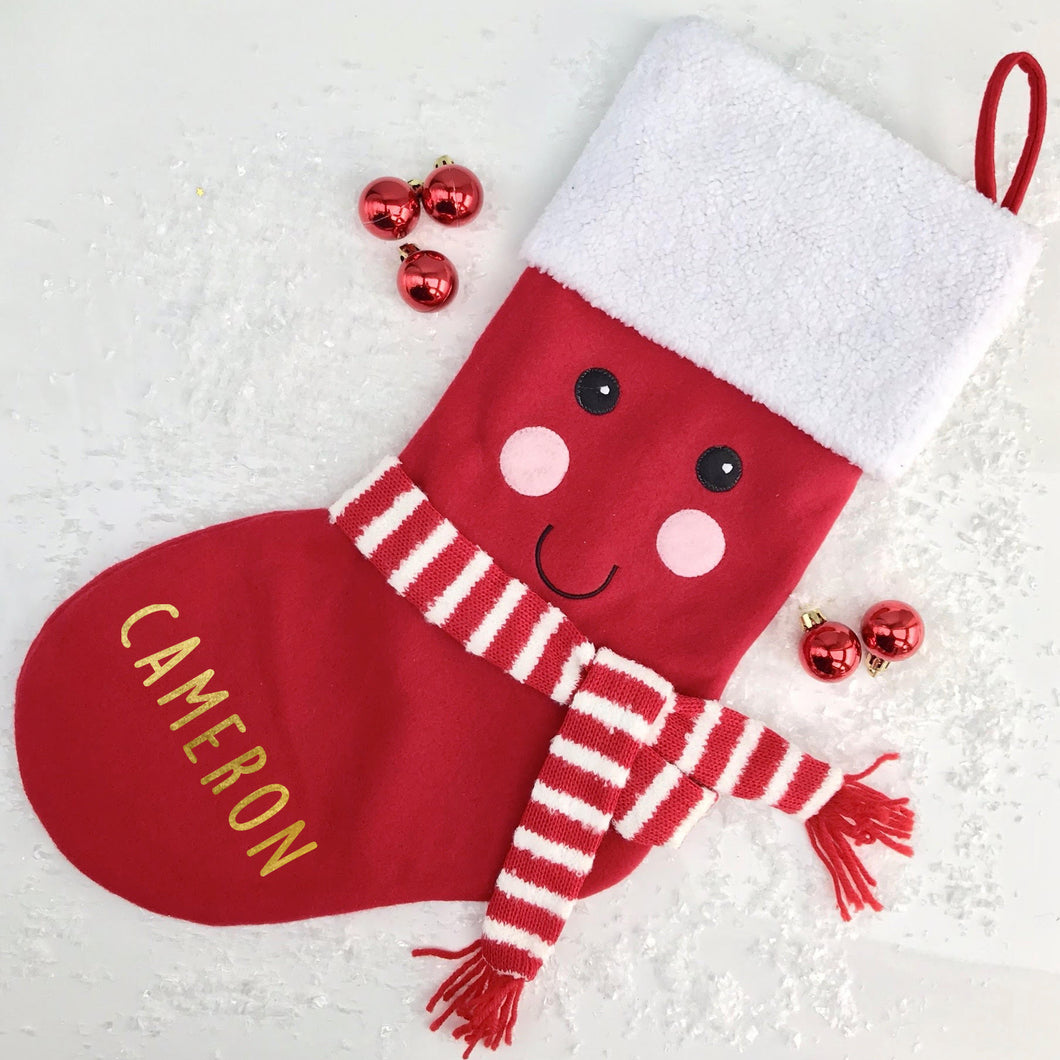 Personalised Smiley Face Stocking