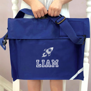 Personalised School Bag Rocket