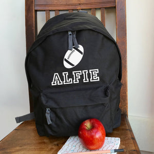Personalised Rugby Backpack with ANY NAME