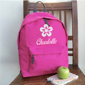 Personalised Flower (Vinyl) Backpack
