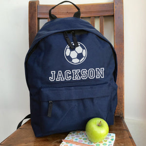 Personalised Football Backpack with ANY NAME  (Vinyl)