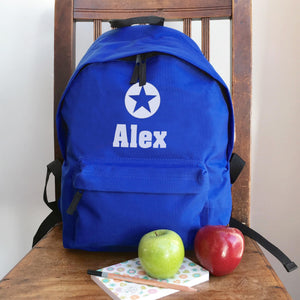 Personalised Star Backpack (Vinyl) with Name