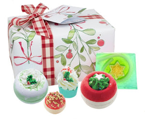 Christmas Bath Bombs Red Gingham