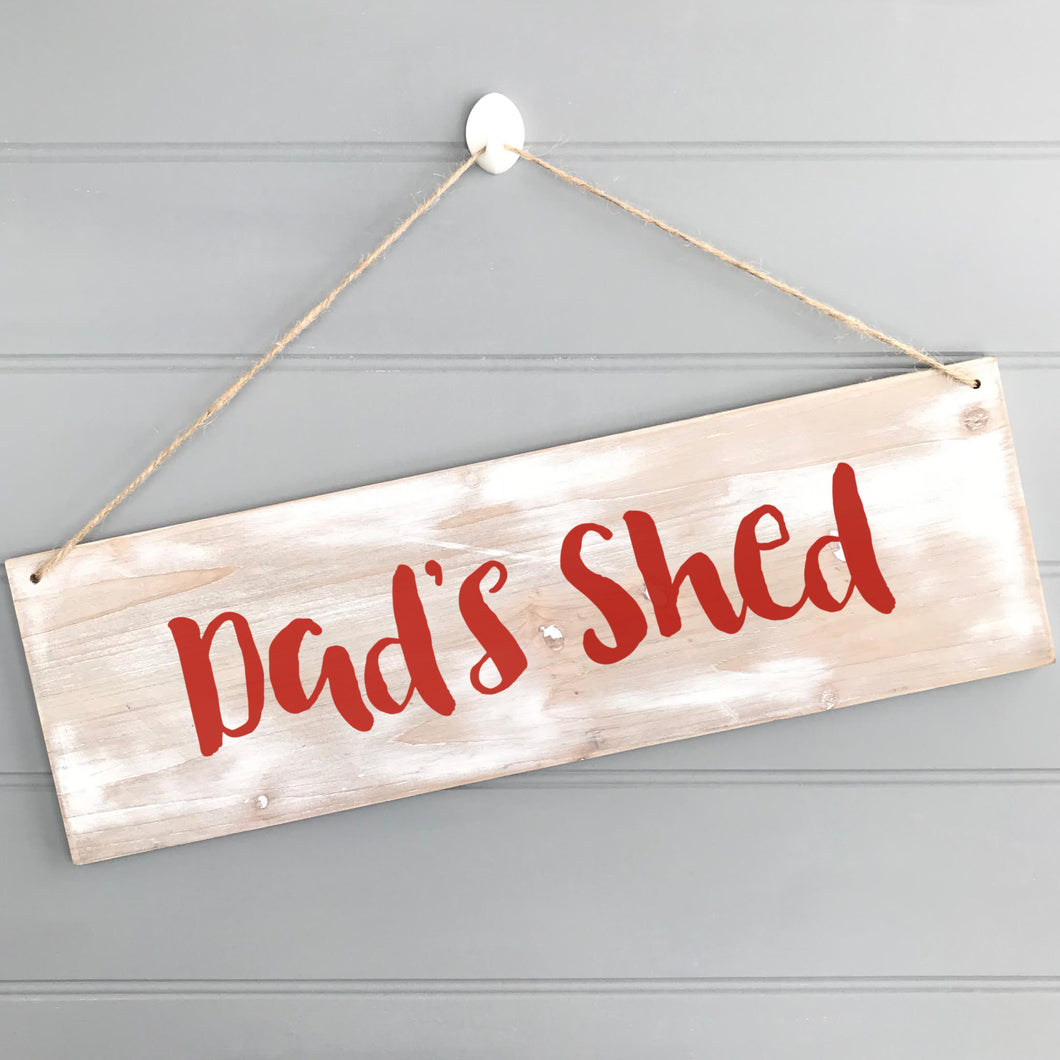 Personalised Dad's Shed Sign