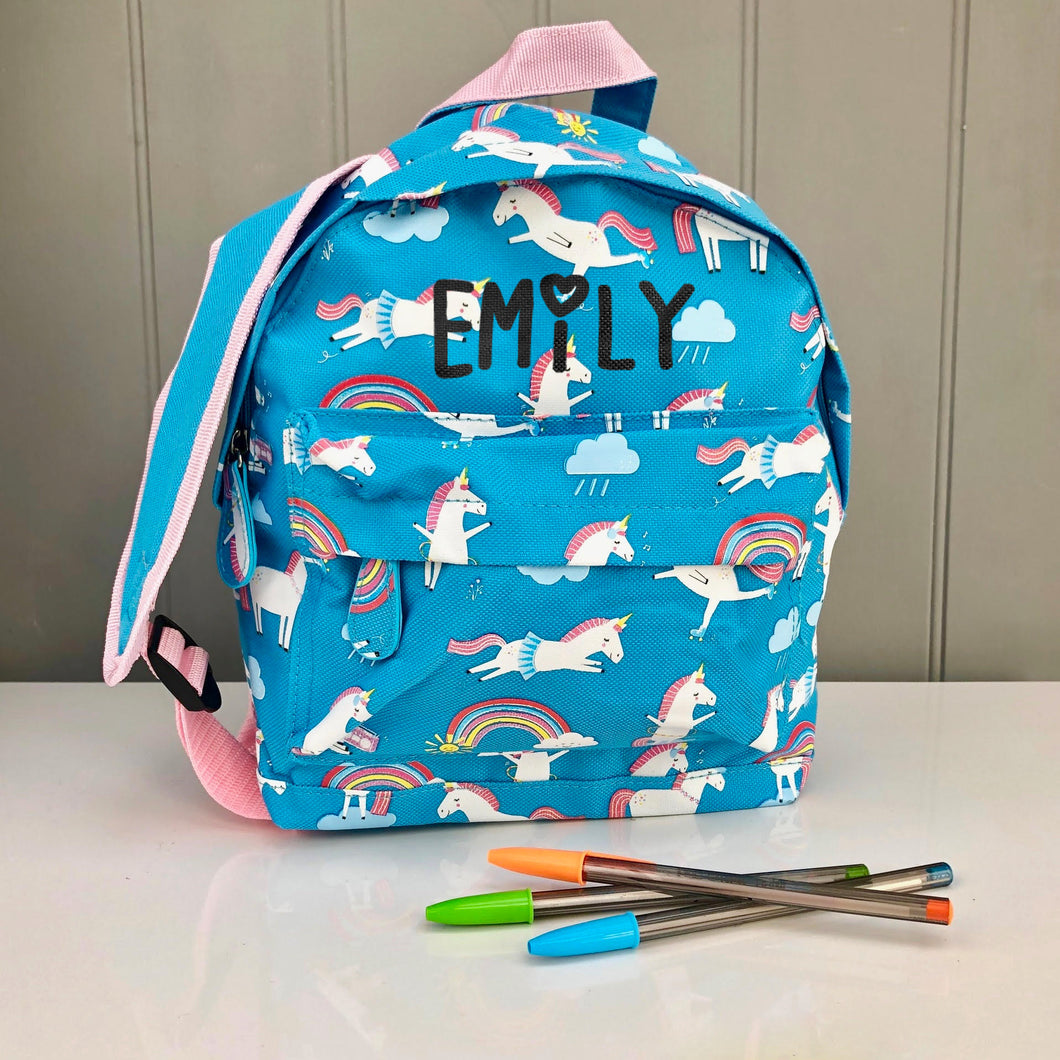 Personalised Child's Magical Unicorn Backpack