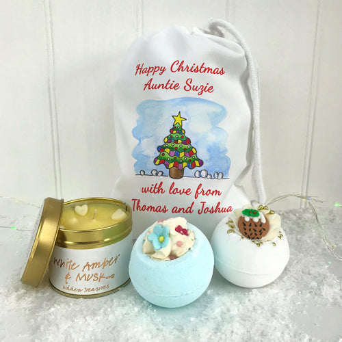 Bath Gift Set and Candle