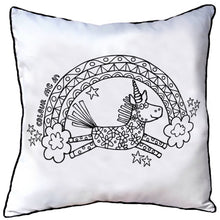 Colour In Cushion Unicorn Design