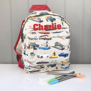 Vintage Style Personalised Backpack
