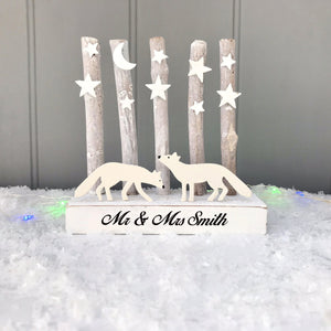 Personalised Mr & Mrs Christmas Decoration