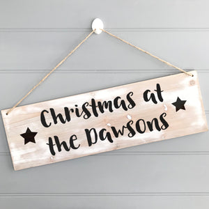 Christmas Family Wooden Sign