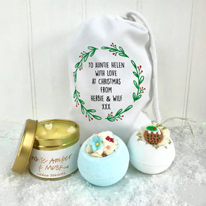 Auntie Bath Bomb Set and Candle