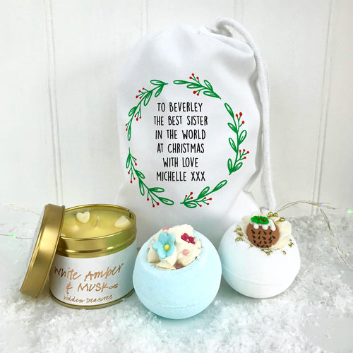 Sister Bath Bomb Set and Candle