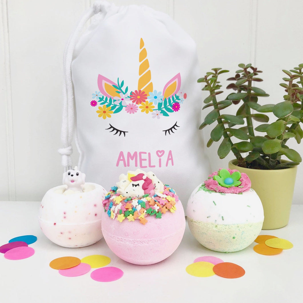 Unicorn Bath Bomb Gift Set