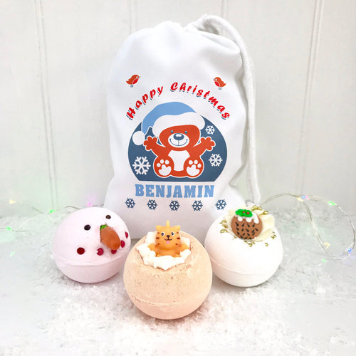 Children's Personalised Bath Bomb Set