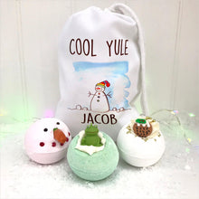 Personalised Children's Cool Yule Bath Bomb Gift Set