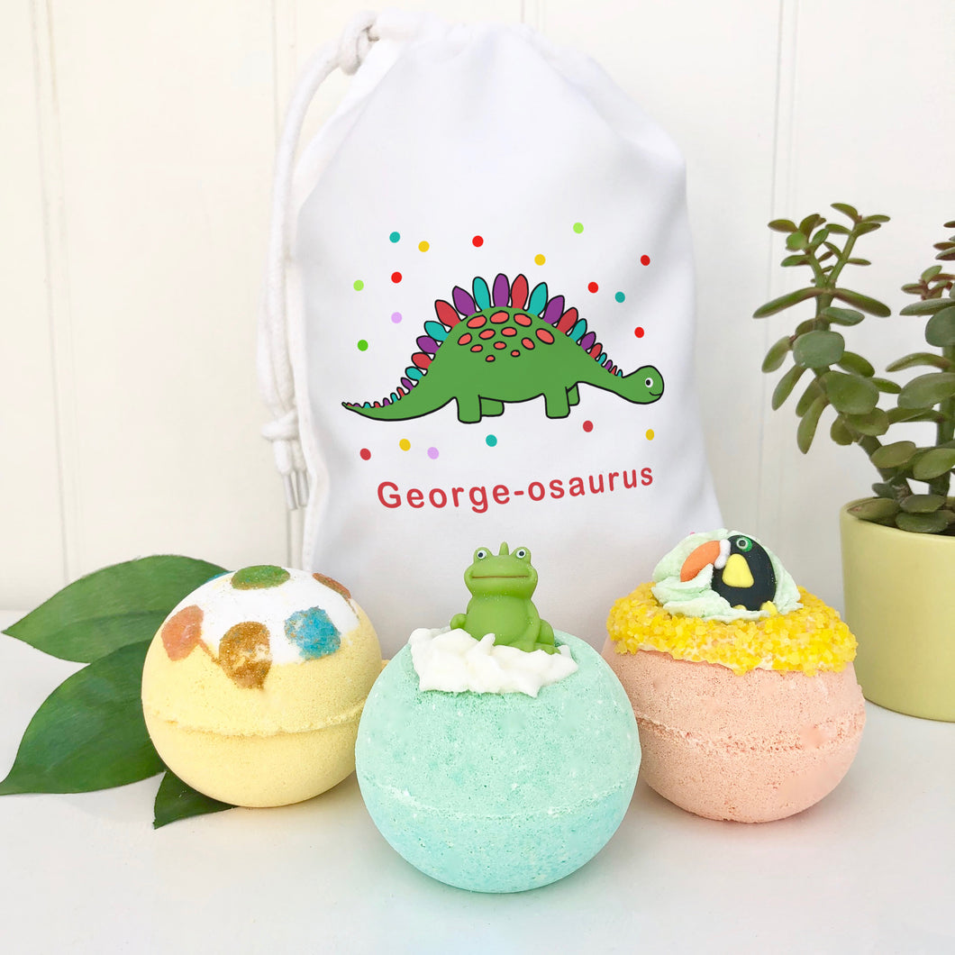 Bath Bomb Children's Personalised Gift Set
