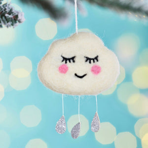 Little Felt Cloud Decoration