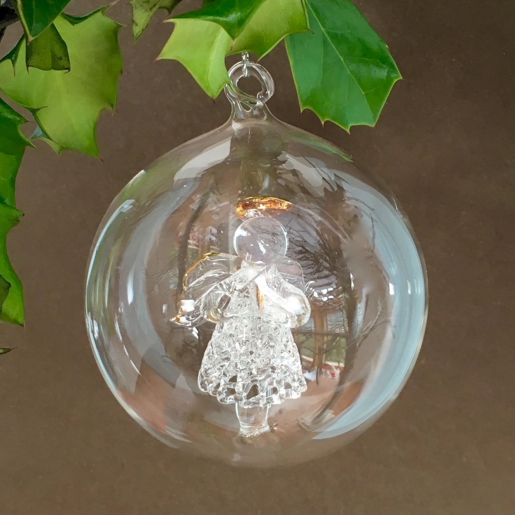 Christmas Glass Angel Bauble