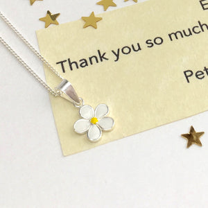 Sterling Silver Daisy in Personalised Message Bottle