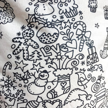Colour in Personalised Christmas Sack