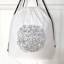 Colour Me In Music Drawstring Bag