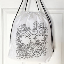 Colour Me In Rainbow Drawstring Bag
