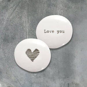 Porcelain Message Token Gift