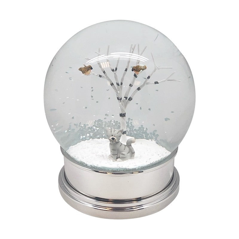 Christmas Snow Globe With Cat