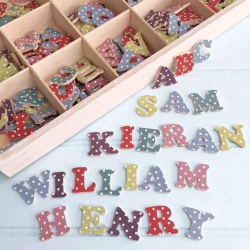 Wooden Spotty Alphabet Letters