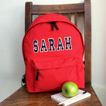 Personalised Rucksack Varsity Style Letter Backpack