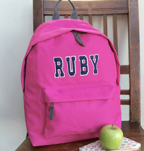 Personalised Varsity Backpack