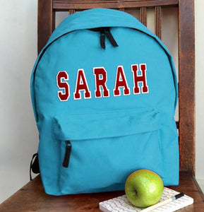 Personalised Applique Name Rucksack