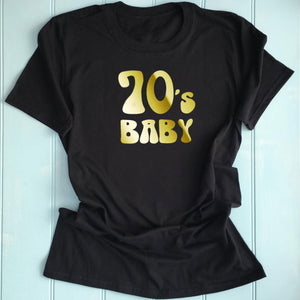 70's Inspired Womens Slogan Printed T Shirt Gold