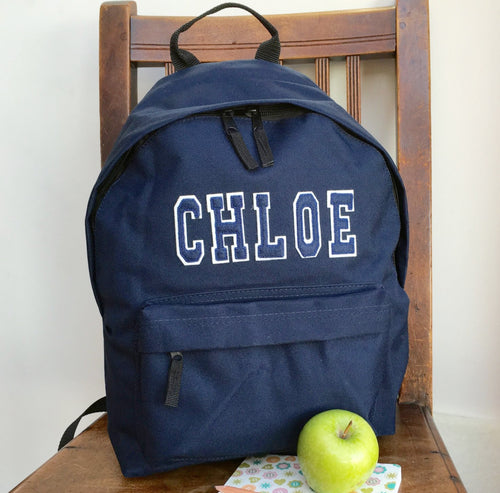 Personalised Rucksack with Appliqué Name